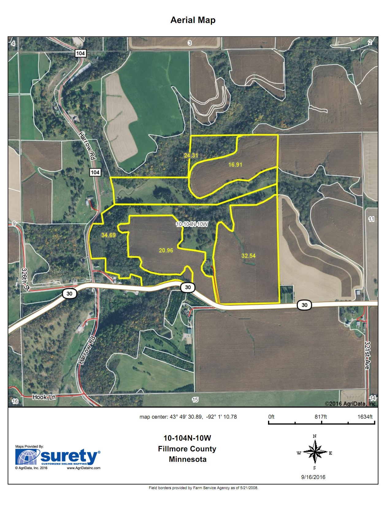 131.24 +/- Acres Fillmore County, MN (AUCTION)